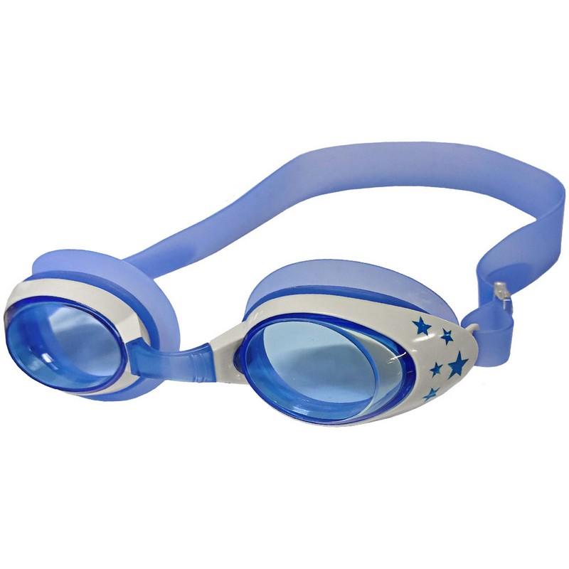 Купить Очки для плавания ТПУ переносица B31523-1 Синийбелый, NoBrand