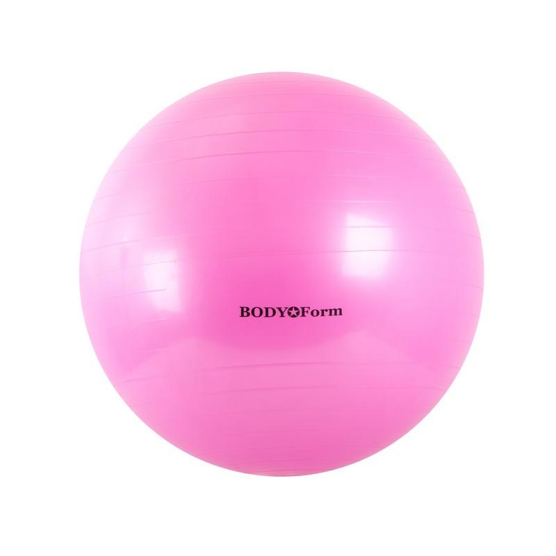 Гимнастический мяч Body Form BF-GB01 D55 см. розовый фото