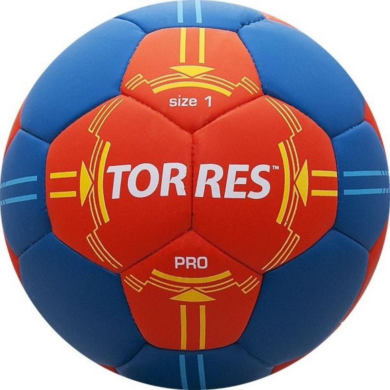 Мяч гандбольный Torres PRO H30061 (р.1) матчевый, оранж/син.