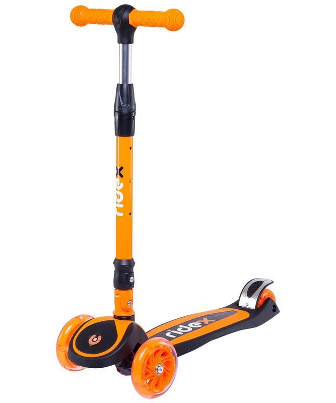 Купить Самокат 3-колесный Ridex 3D Tiny Tot 120/80 мм, оранжевый,