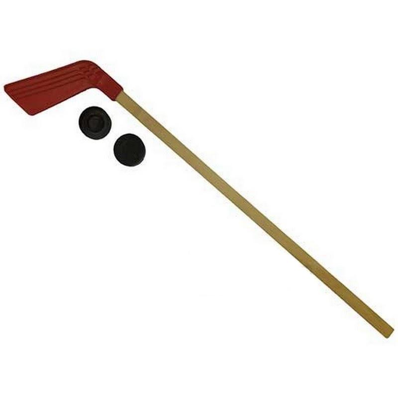 Клюшка детская хоккейная 80 см +2 шайбы КХ-1-80 safsof клюшка хоккейная с шайбой 70см