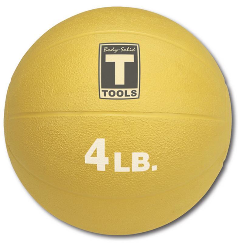 Медицинский мяч 1,8 кг Body Solid BSTMB4 желтый body solid mb507rg