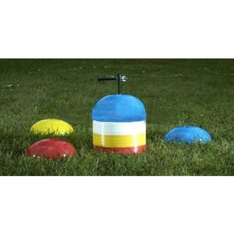 Фишки для разметки поля Mitre Multi Markers A4022MUL, форма полусфер, пластик, красный, желтый, синий, белый