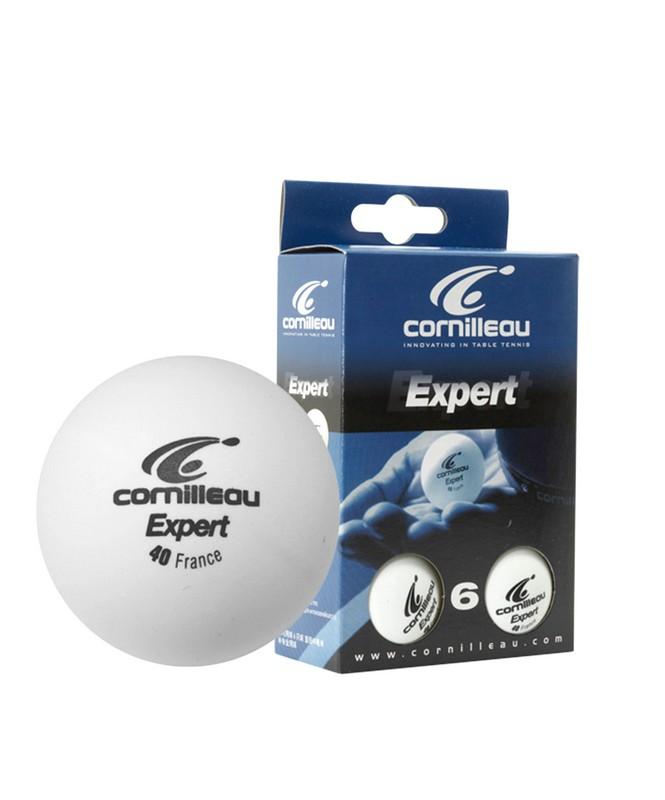 Мяч для настольного тенниса Cornilleau Эксперт, белый, 6 шт. ракетка для настольного тенниса cornilleau sport 100 gatien цвет красный