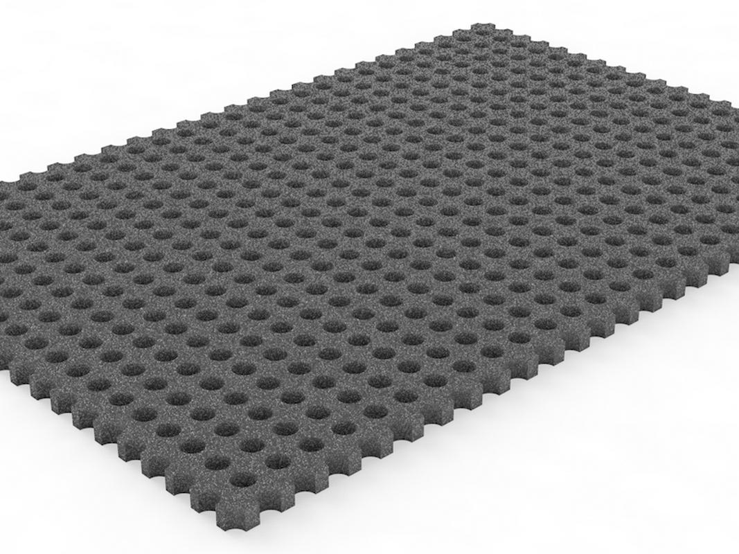 Купить Амортизирующее резиновое покрытие, толщина 12мм Glav 8.118,