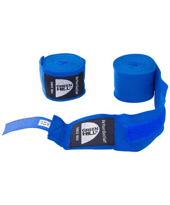 Купить Бинт боксерский Green Hill BP-6232d, 4,5м, эластик, синий,
