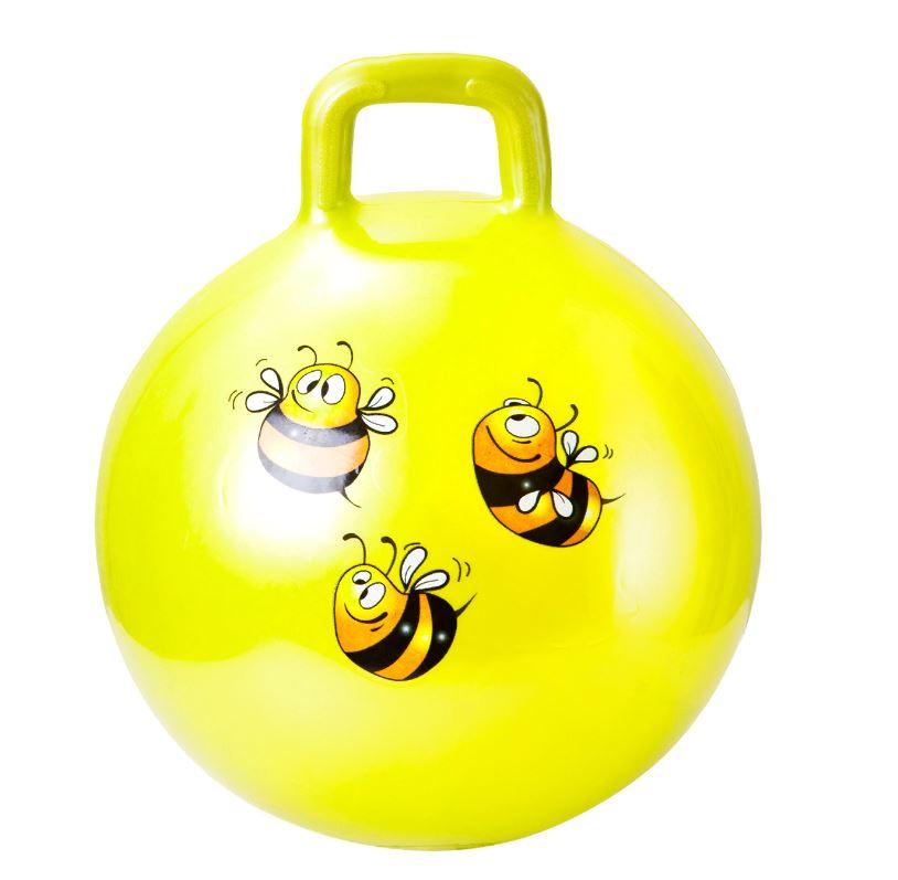 Мяч гимнастический 8023 детский, с ручкой, 65 см.