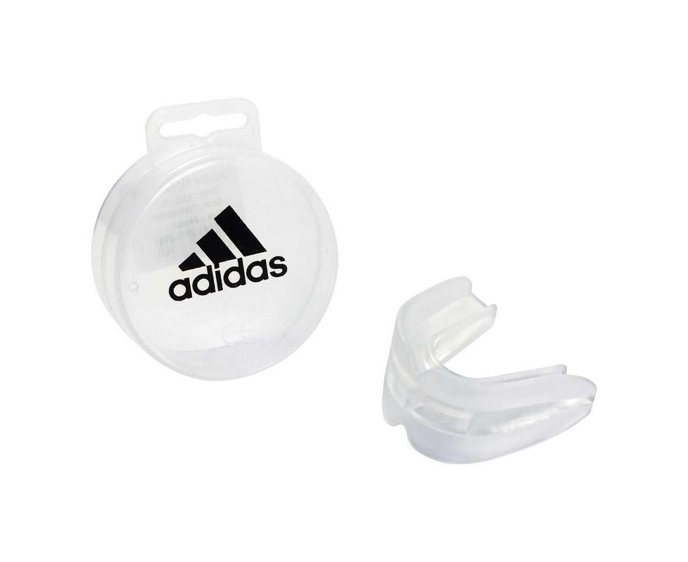 Капа двухчелюстная Adidas Double Mouth Guard прозрачная adiBP10