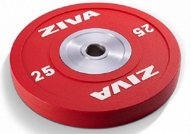 Диск для тяжелой атлетики, уретановое покрытие, цветной 2,5-25кг Ziva ZVO-BDPU, 2,5-25кг, шт семена клевер белый клондайк 0 25кг