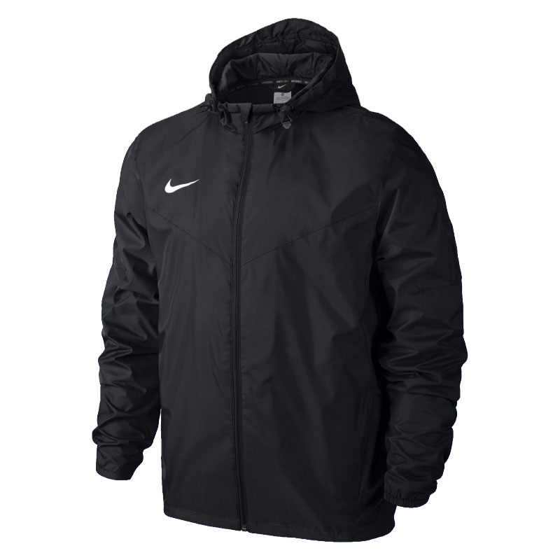 Куртка ветрозащитная Nike Team Sideline Rain Jkt 645908-010 Jr тренировочная форма nike куртка nike team yth s team sideline rain jkt 645908 010