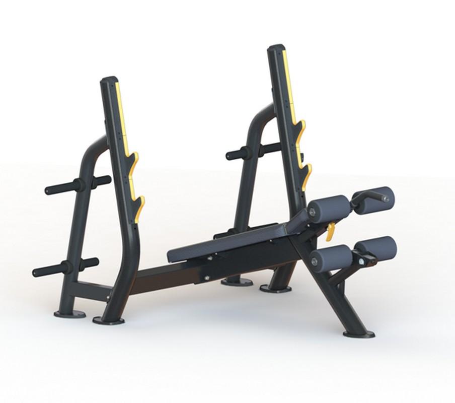 Олимпийская скамья Kraft Fitness с отрицательным наклоном KFODBY регулируемая скамья kraft fitness kffiuby