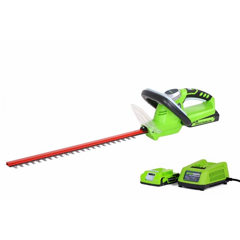 Кусторез аккумуляторный Greenworks G24HT54