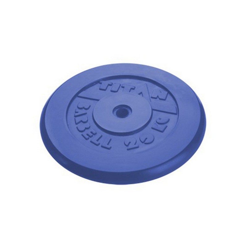 Купить Диск обрезиненный d26мм MB Barbell Titan 20кг синий,