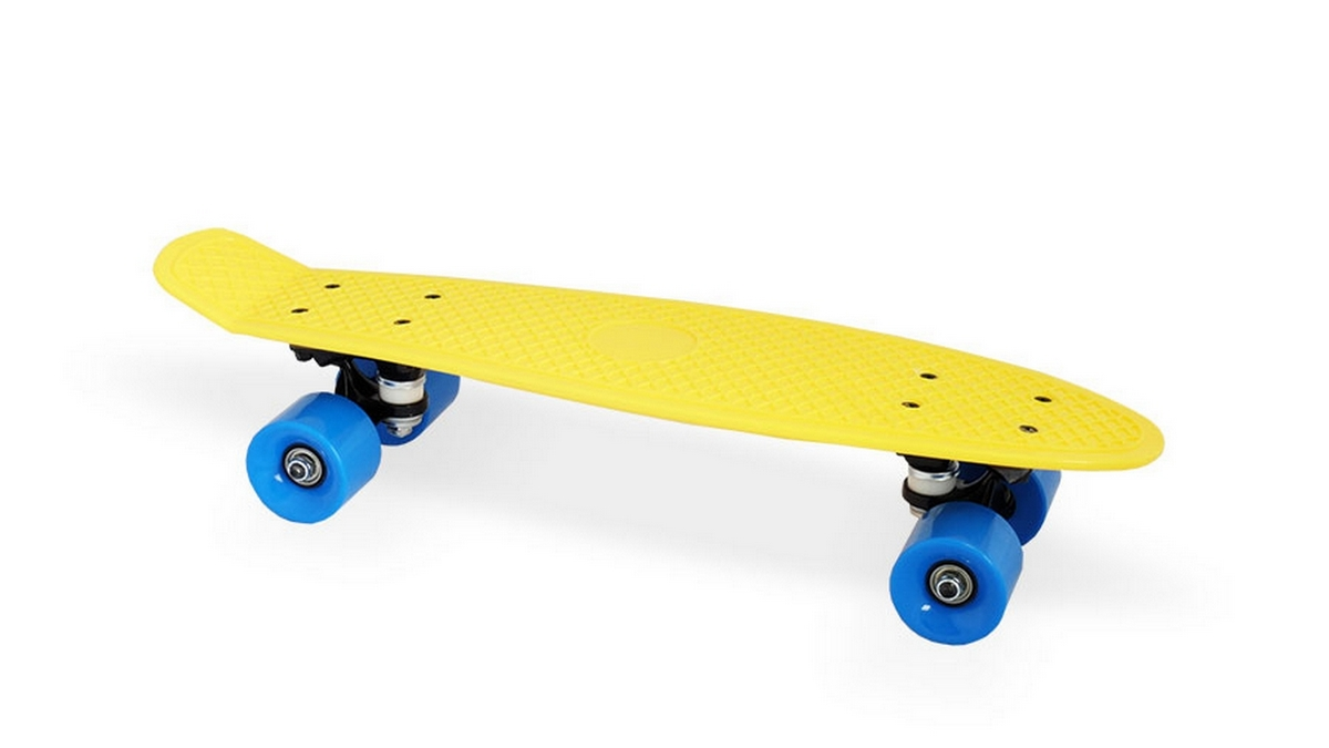 Скейт пластиковый 22х6 quot; Moove Fun PP2206-1 yellow скейт пластиковый 22х6 quot moove fun pp2206 1 yellow