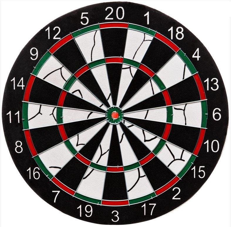Набор для дартса: мишень 43 см 1шт., дротик 6шт. Torneo TRN-DART17