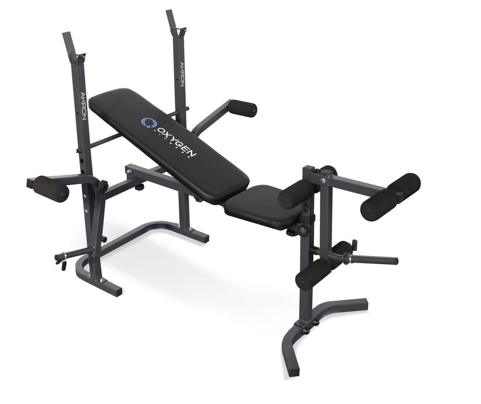 Купить Скамья силовая Oxygen Fitness Akron, черная,
