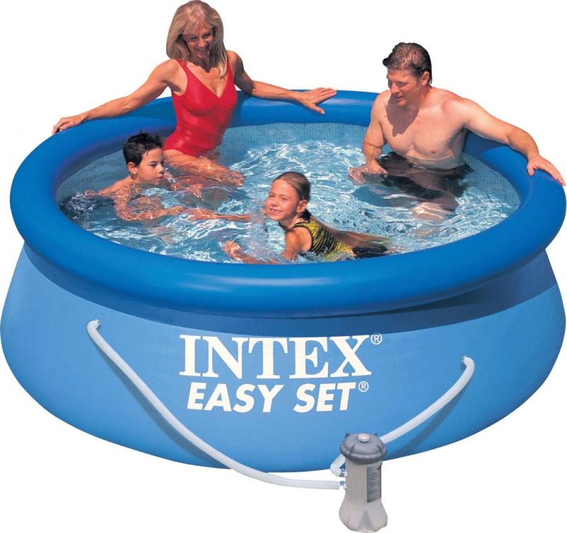 Купить Бассейн надувной 244х76см с фильтр-насосом Intex 28112-Н,