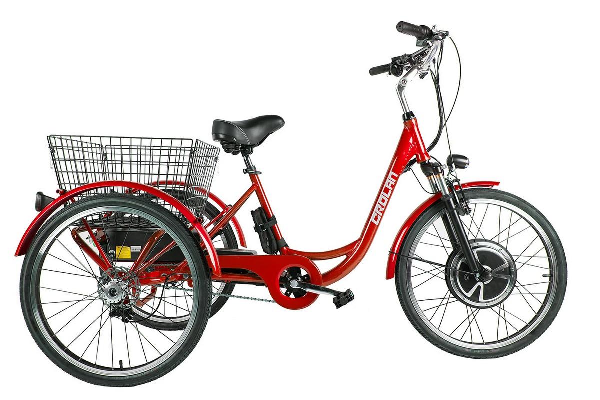 Трицикл Green City Crolan 500W red