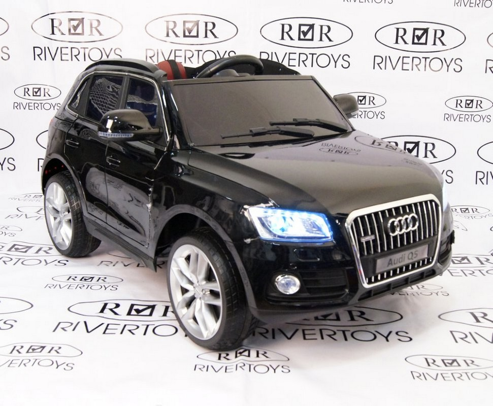 Детский электромобиль River-Toys Audi Q5 черный глянец