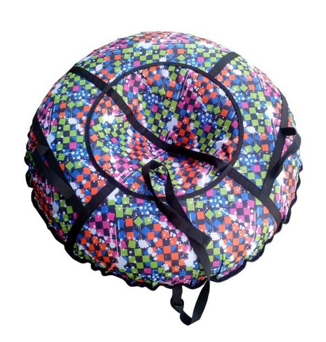Купить Санки-ватрушка Atemi Дизайн D=107 см. (сумка) с молнией,