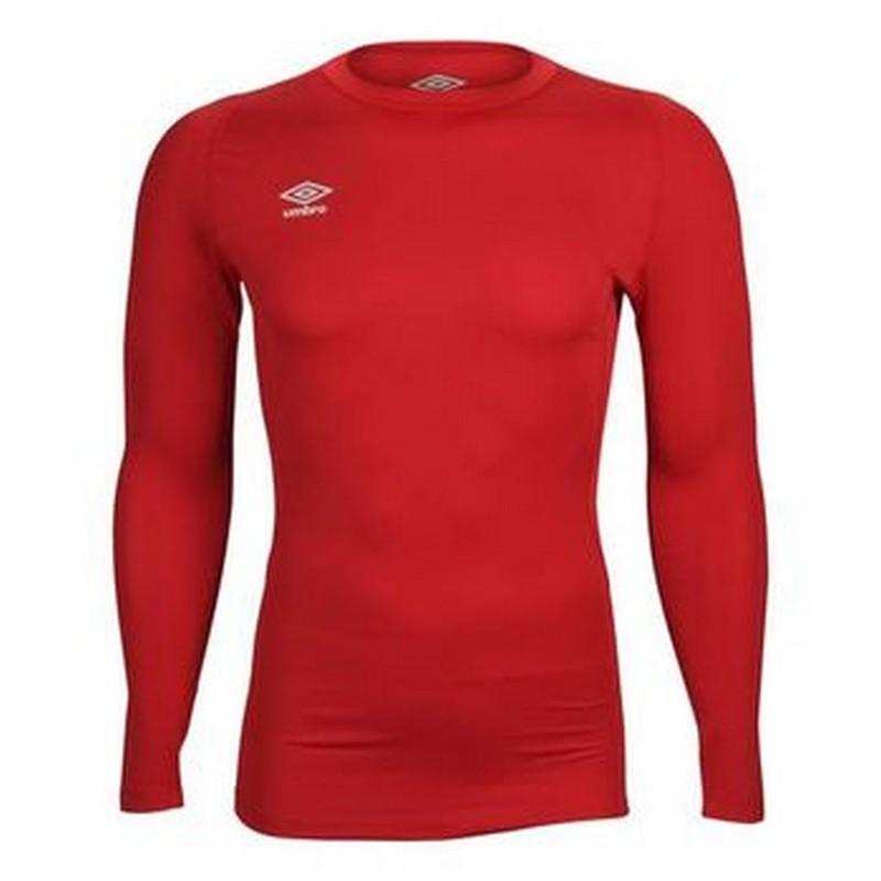 Футболка тренировочная Umbro Fw Ls Crew Baselayr с длинным рукавом (7RA) красная