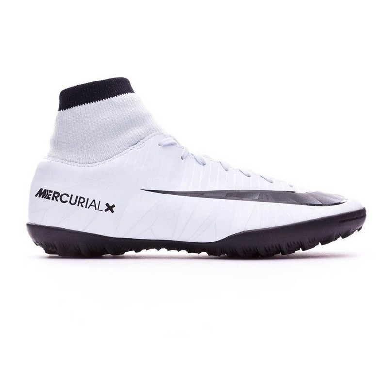 Шиповки Nike Mercurialx Victory VI Cr7 Df Tf 903612-401 Sr, бел/сер. бутсы nike шиповки nike jr tiempox legend vi tf 819191 018