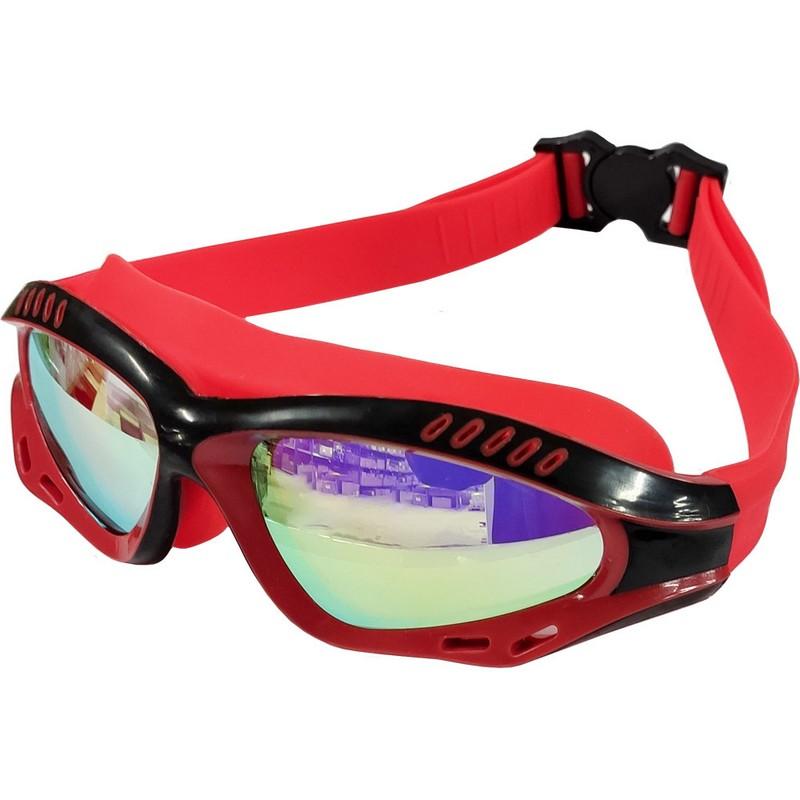 Купить Очки для плавания полу-маска B31540-3 Красныйчерный, NoBrand