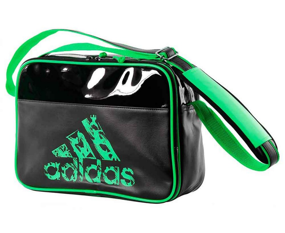 Сумка спортивная Adidas Leisure Messenger S черно-зеленая adiACC110CS3-S сумка спортивная everhill черно оранжевая 50л