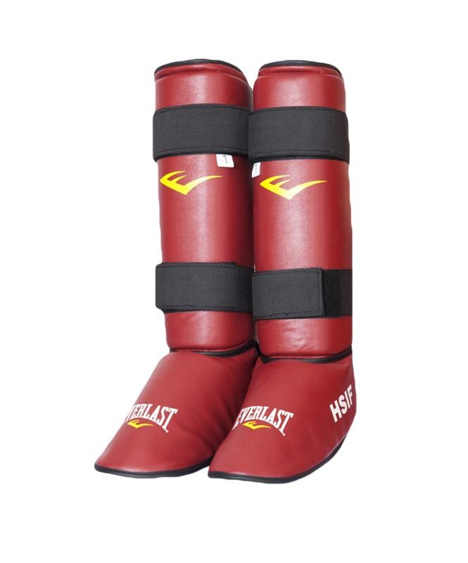Защита голень-стопа Everlast HSIF RF7150 кожзам, красный