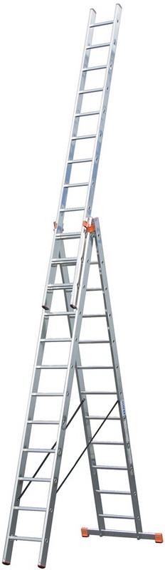 Универсальная лестница Krause MONTO TRIBILO 3х12 перекладин, 355-860 см 120625 лестница krause tribilo 121226
