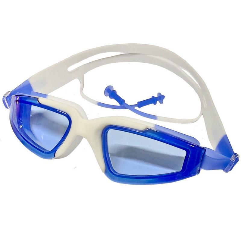 Купить Очки для плавания с берушами B31545-4 Белоголубой, NoBrand