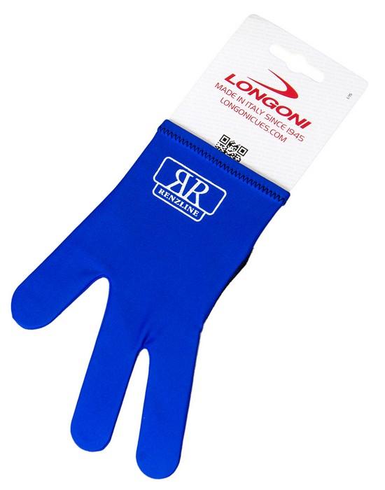 Перчатка бильярдная Longoni RenzLine Bicolor (синяя) 45.302.03.4