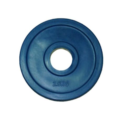 Купить Диск обрезиненный Oxygen Fitness евро-классик 2,5 кг d51мм синий ромашка,
