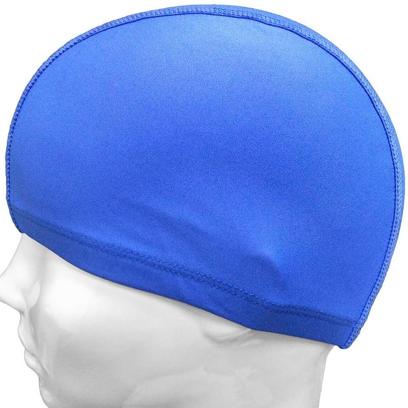 Купить Шапочка для плавания лайкра C33692-1 синяя, NoBrand