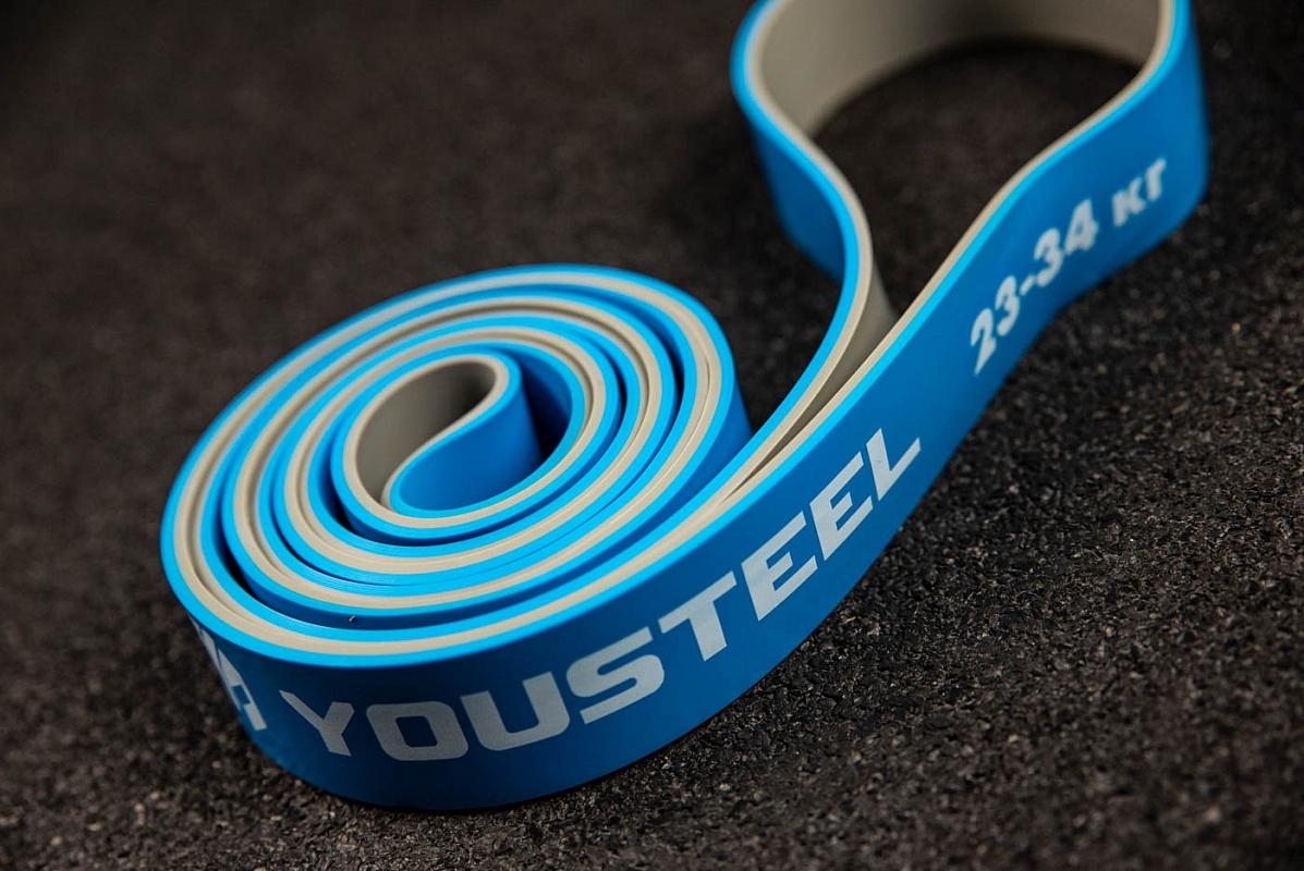 Купить Петля двухцветная YouSteel 32мм, серый+голубой,