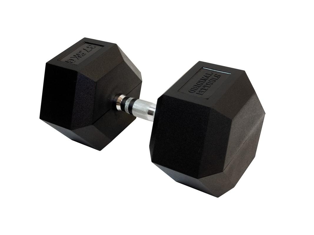 Купить Гантель гексагональная Original Fit.Tools 37,5 кг FT-HEX-37,5,