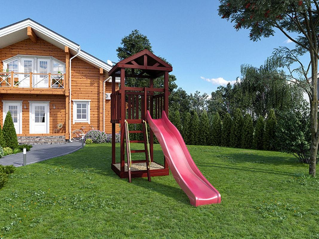 Деревянная детская площадка для дачи Igragrad Панда Фани Tower все для сада и дачи