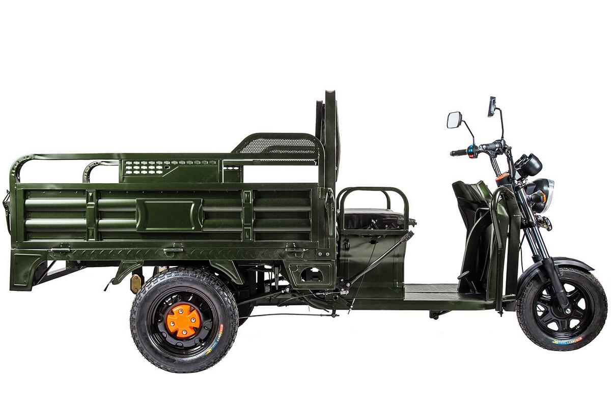 Купить Грузовой электрический трицикл RuTrike D4 1800 60V1200W зеленый,