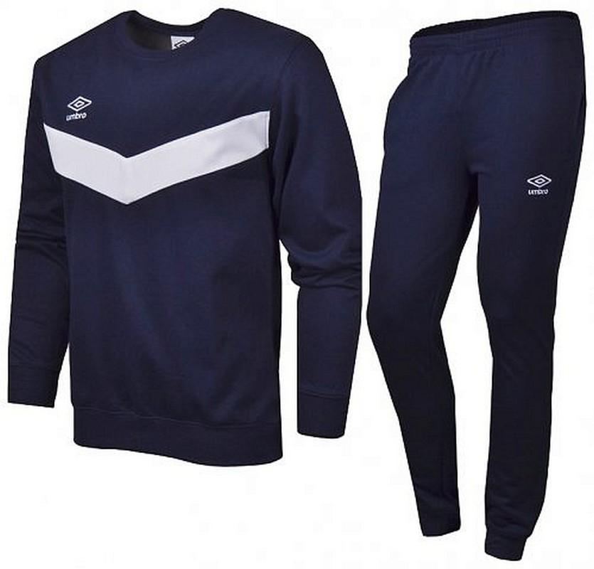 Костюм спортивный Umbro Unity Cotton Suit мужской 353015 (991) т.син/бел.