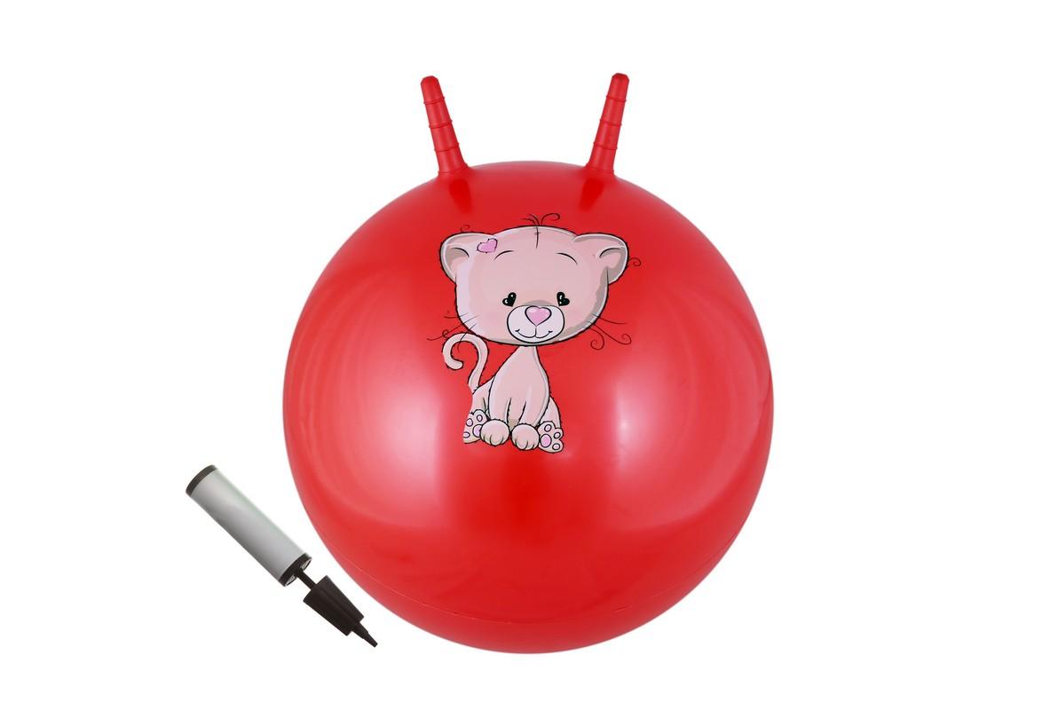 Мяч с двумя ручками + насос Body Form BF-CHBP02 D=65 см красный