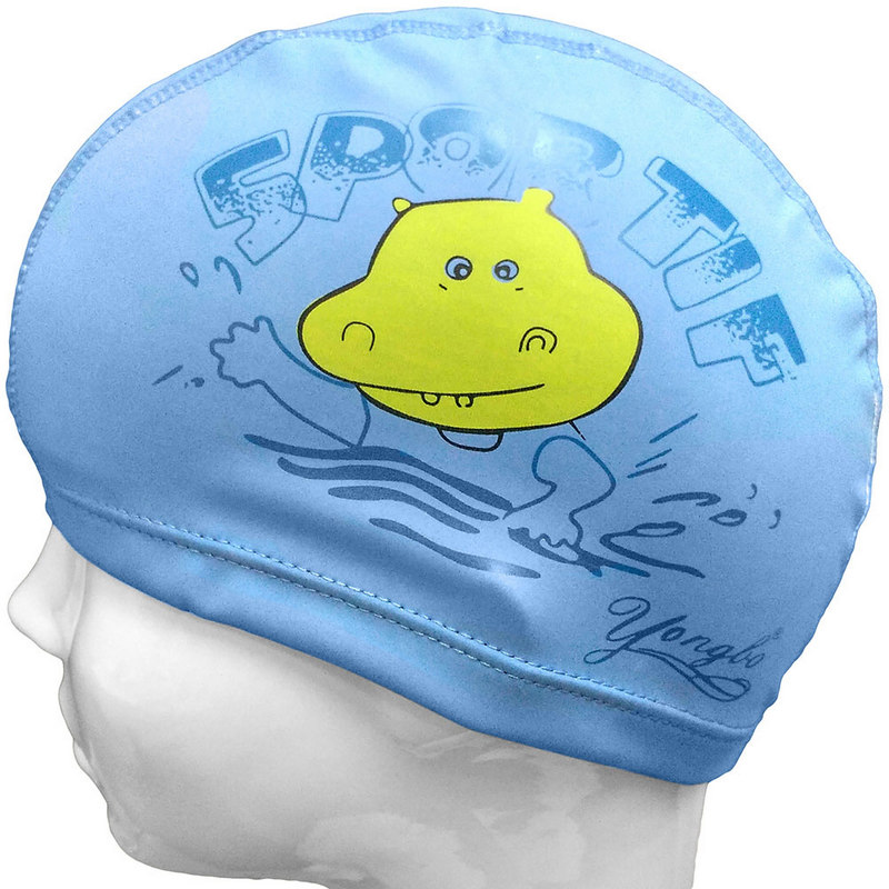 Купить Шапочка для плавания детская ПУ (синяя Бегимот) C33682-6, NoBrand