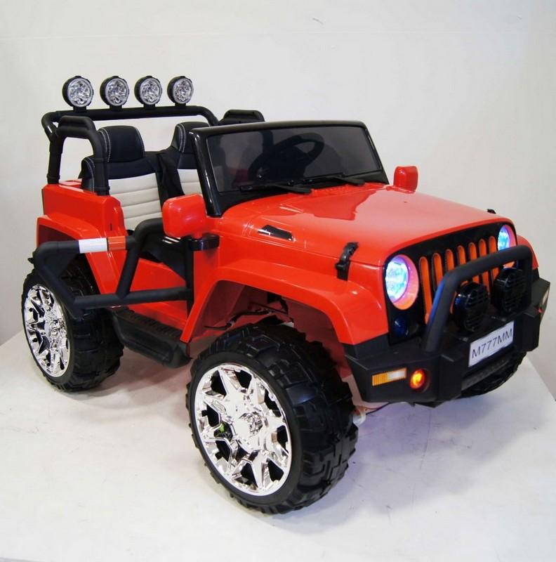 Электромобиль River-Toys Jeep M777MM 4x4 красный