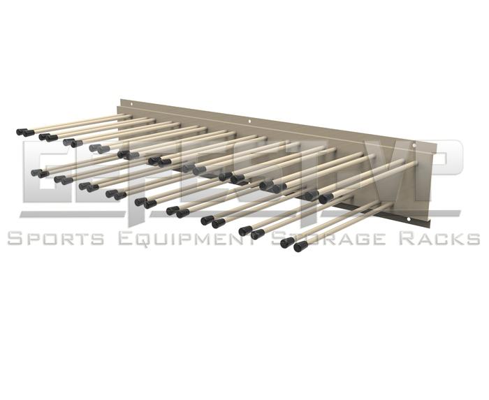 Вешалка для хранения лыжных палок «Эконом» на 120 пар односторонний Gefest 200х38х14