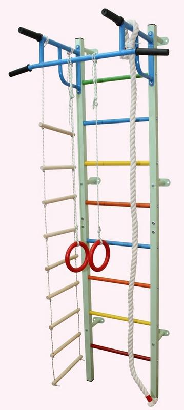 Купить Мини-6 дск (канат+лестница9+кольца) Plastep Мини-6,