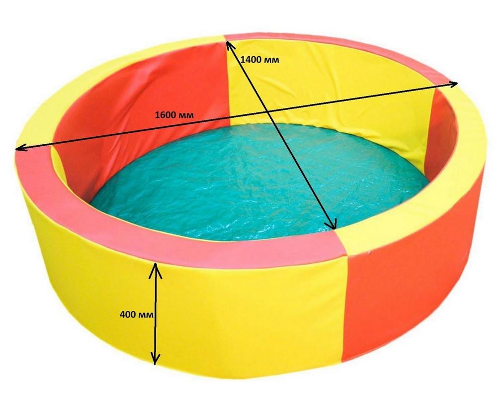Купить Сухой бассейн с набором шаров (в наборе 800 разноцветных шаров) Dinamika ZSO-002374,