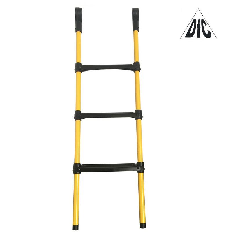 Лестница для батута DFC 12-16 футов (три ступеньки) желтый цвет 3ST-Y (12ft-16ft) лестница для батута 6 10 футов