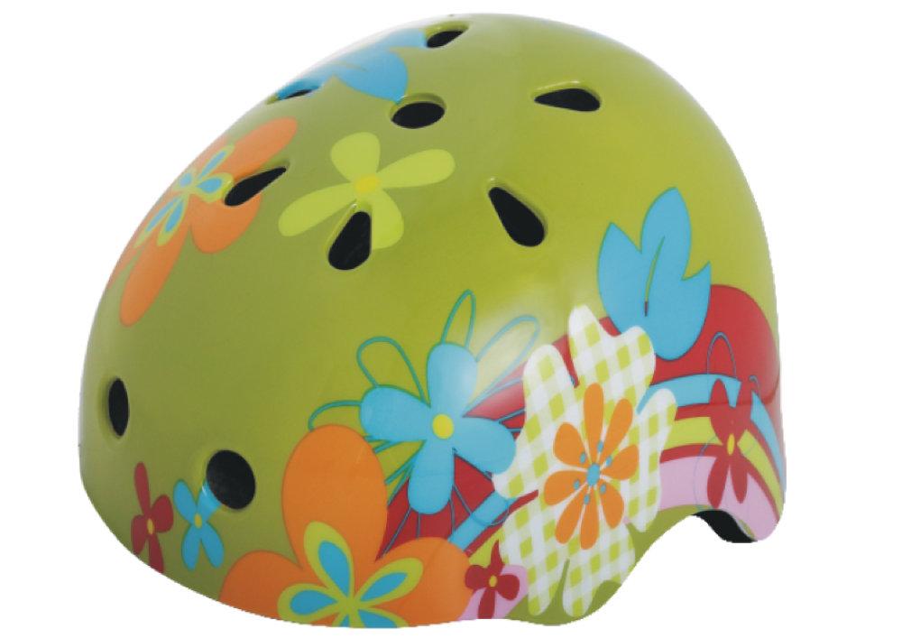 Шлем защитный Action PWH-370 (55-58 см) салат/цвет.принт
