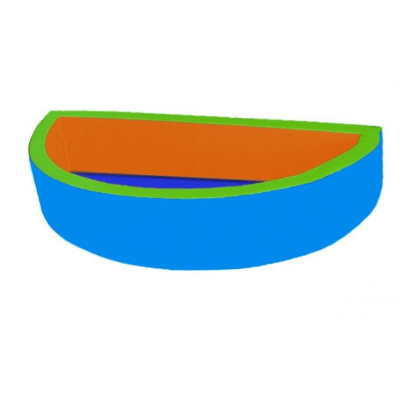 Купить Сухой бассейн полукруглый 2000х1000х400х100 мм Dinamika ZSO-003038,
