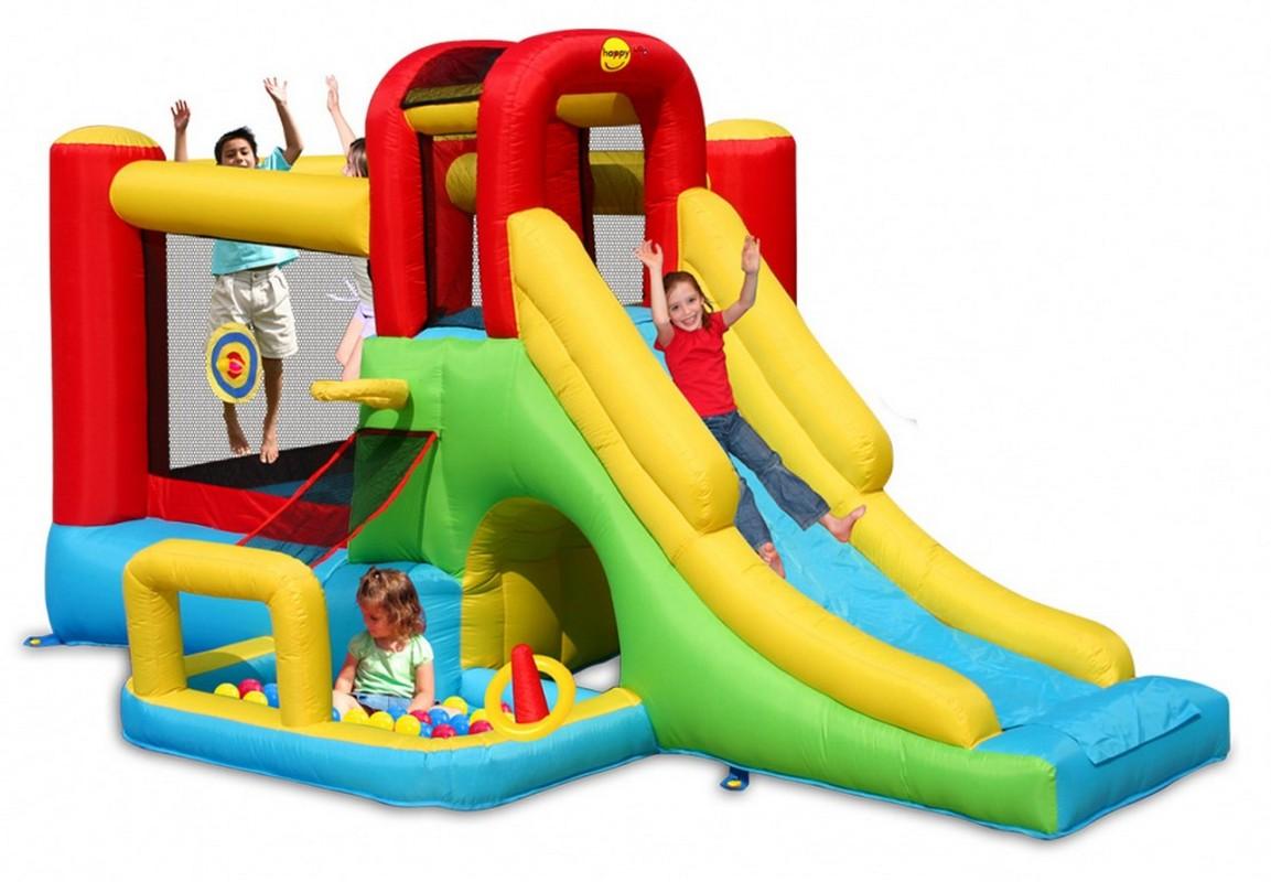 Детский надувной батут Happy Hop Приключение 9160
