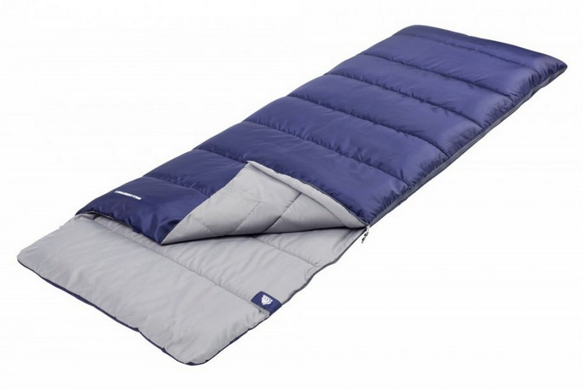 Спальный мешок Trek Planet Avola Comfort XL, левосторонняя молния, синий
